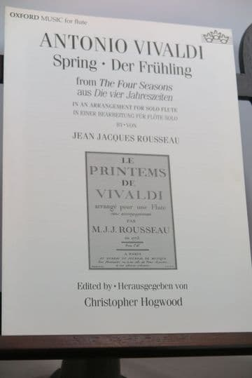 Vivaldi A - Spring from The 4 Seasons for Flute Solo arr Rousseau J J